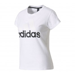 Adidas Ess Linear Slim Tee wit - zwart