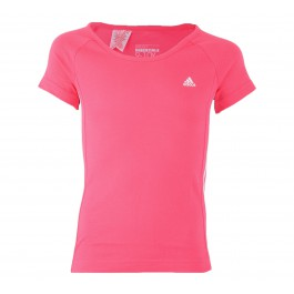 Adidas  YG Ess M Tee roze - wit