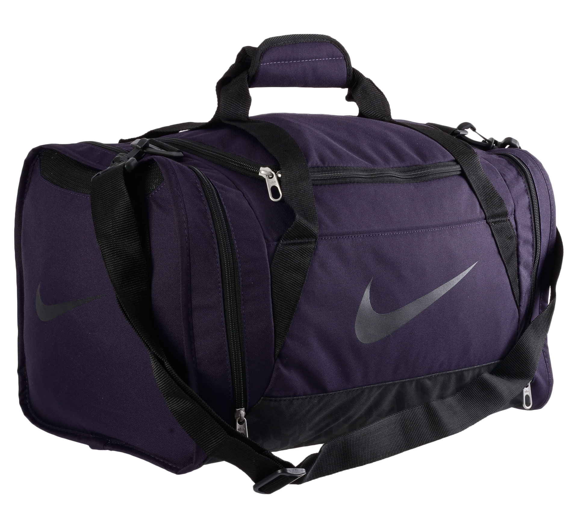 Nike Brasilia 6 Duffel Sports Bag Small donker paars - zwart