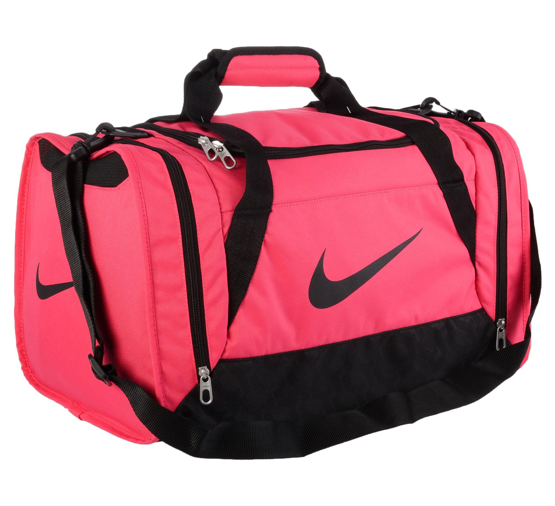 Nike  Brasilia 6 Duffel Sporttas Small roze - zwart