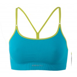 Craft Seamless Li Bra blauw - licht groen
