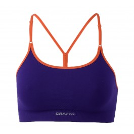 Craft Seamless Li Bra paars - oranje