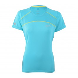 Craft Devotion SS Shirt W blauw - geel