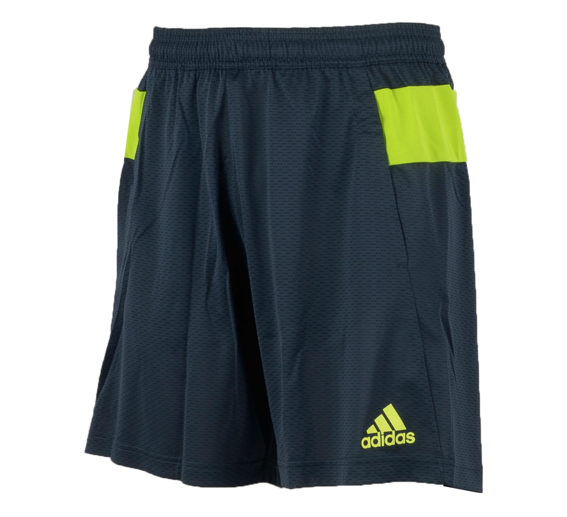 Adidas Nitrocharge Trainings Short Heren grijs - lime
