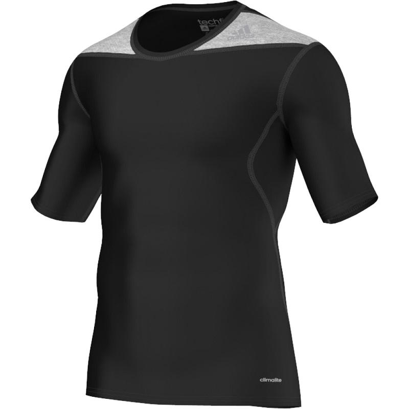 Adidas Climalite Rashguard Korte Mouwen - Zwart