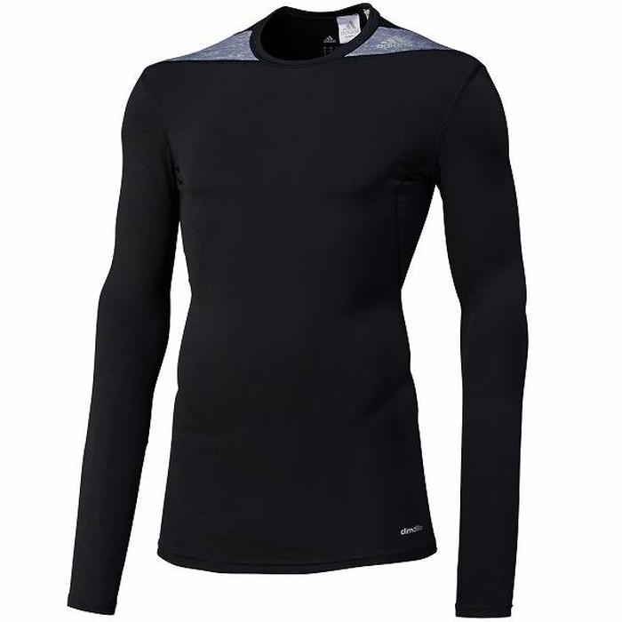 Adidas  Climalite Rashguard Lange Mouwen - Zwart