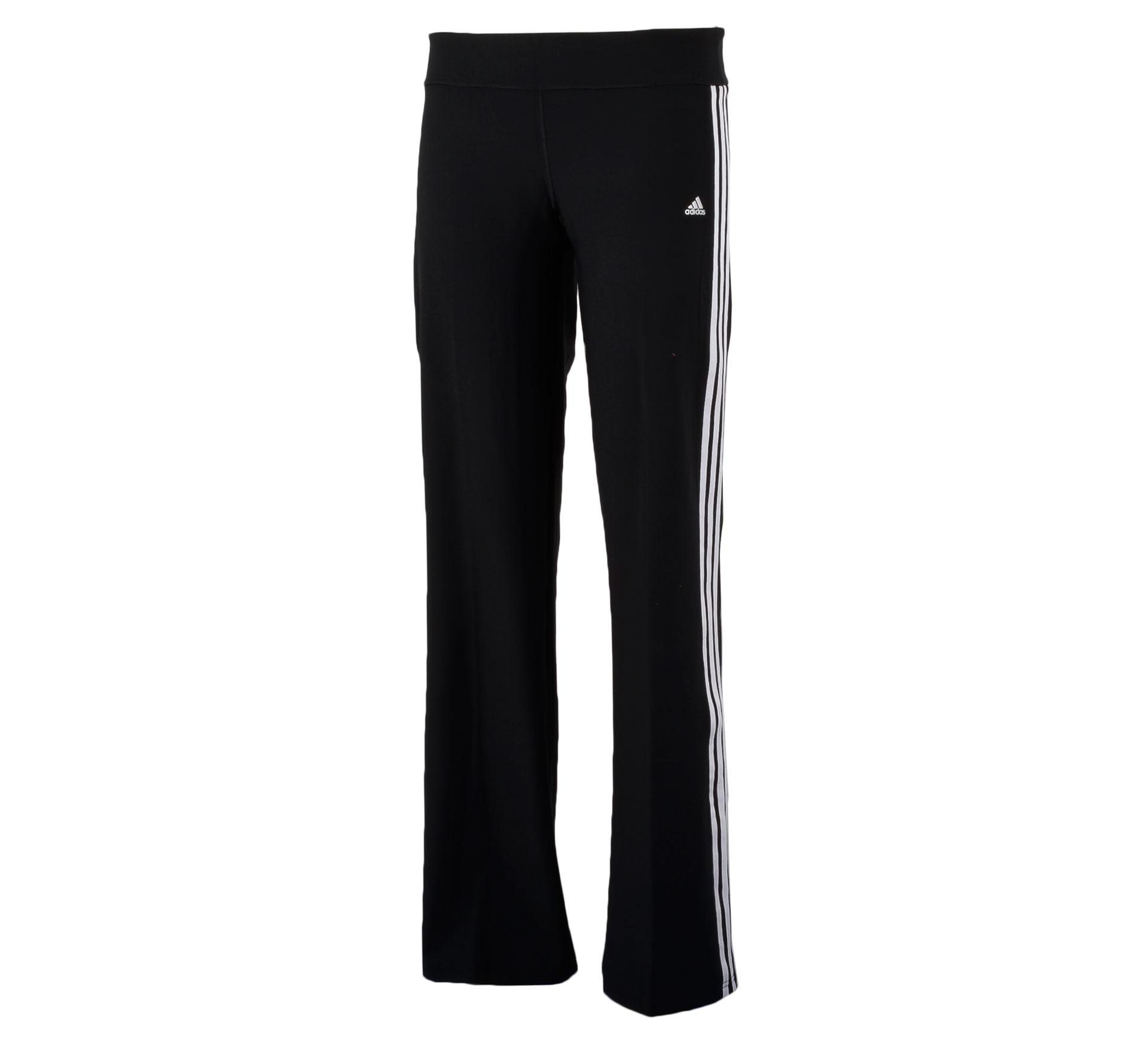 Adidas Ultimate Fit 3Stripe Slim Broek Dames zwart - wit