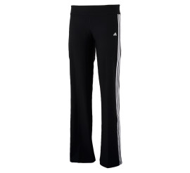 Adidas Ultimate Fit 3Stripe Slim Broek Dames zwart - wit