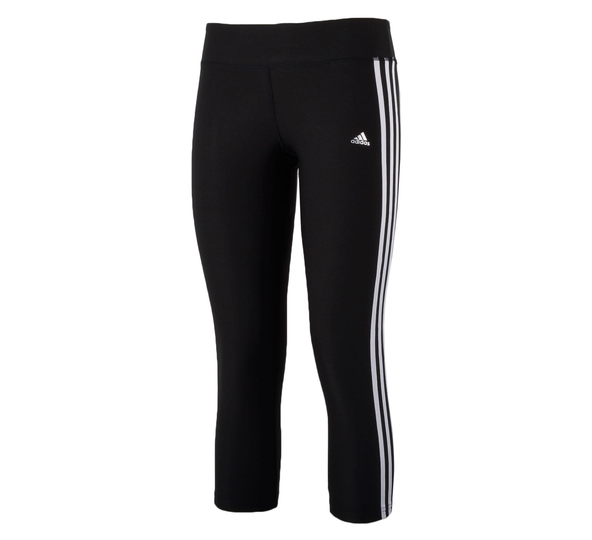 Adidas Ultimate Fit 3Stripe 3/4 Tight Dames zwart - wit