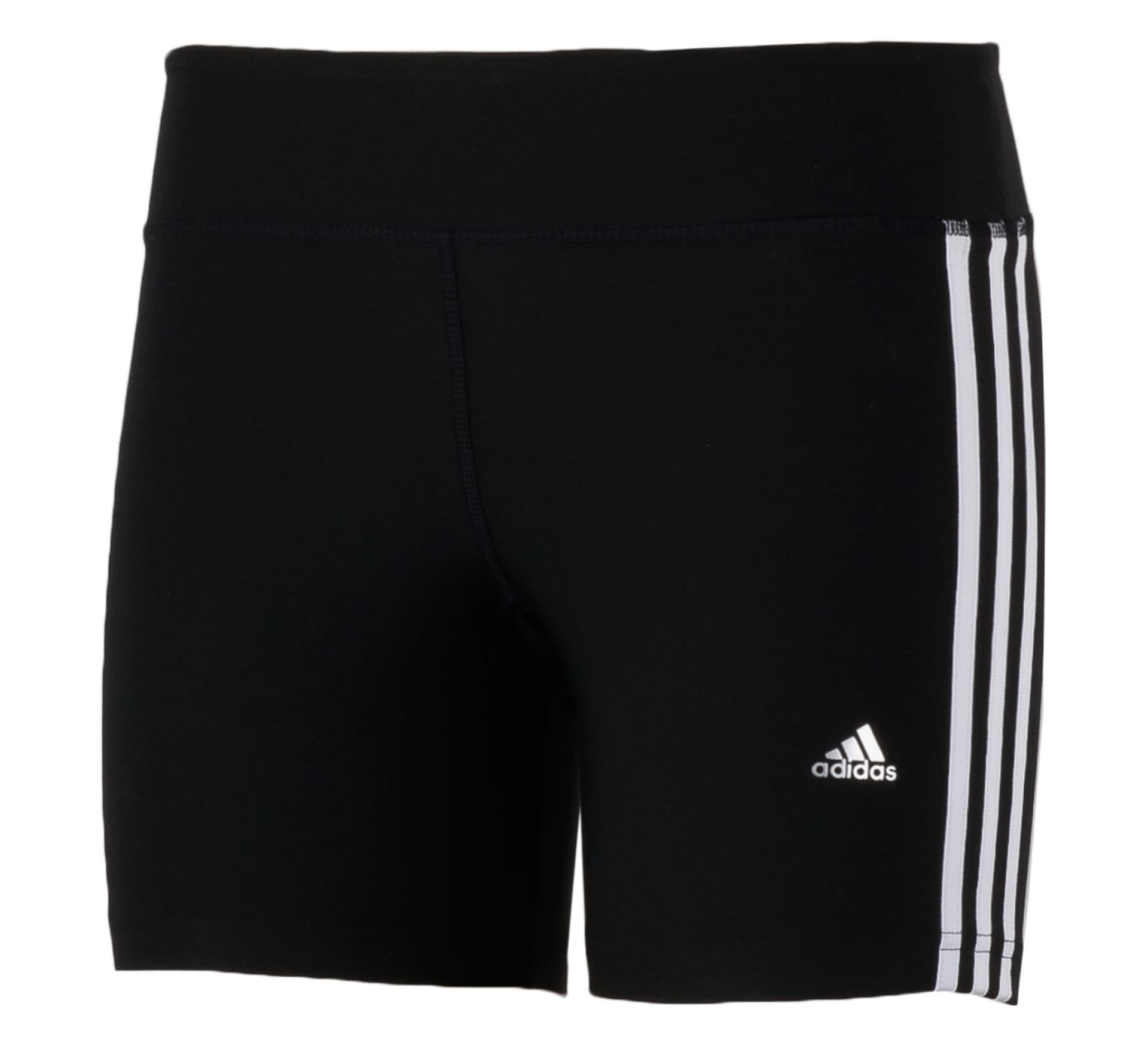 Adidas Ultimate Fit 3Stripe Short Dames zwart - wit