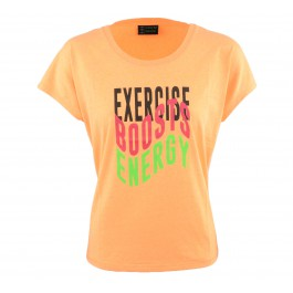 Erima  Green Concept Tee W oranje - zwart - roze - groen