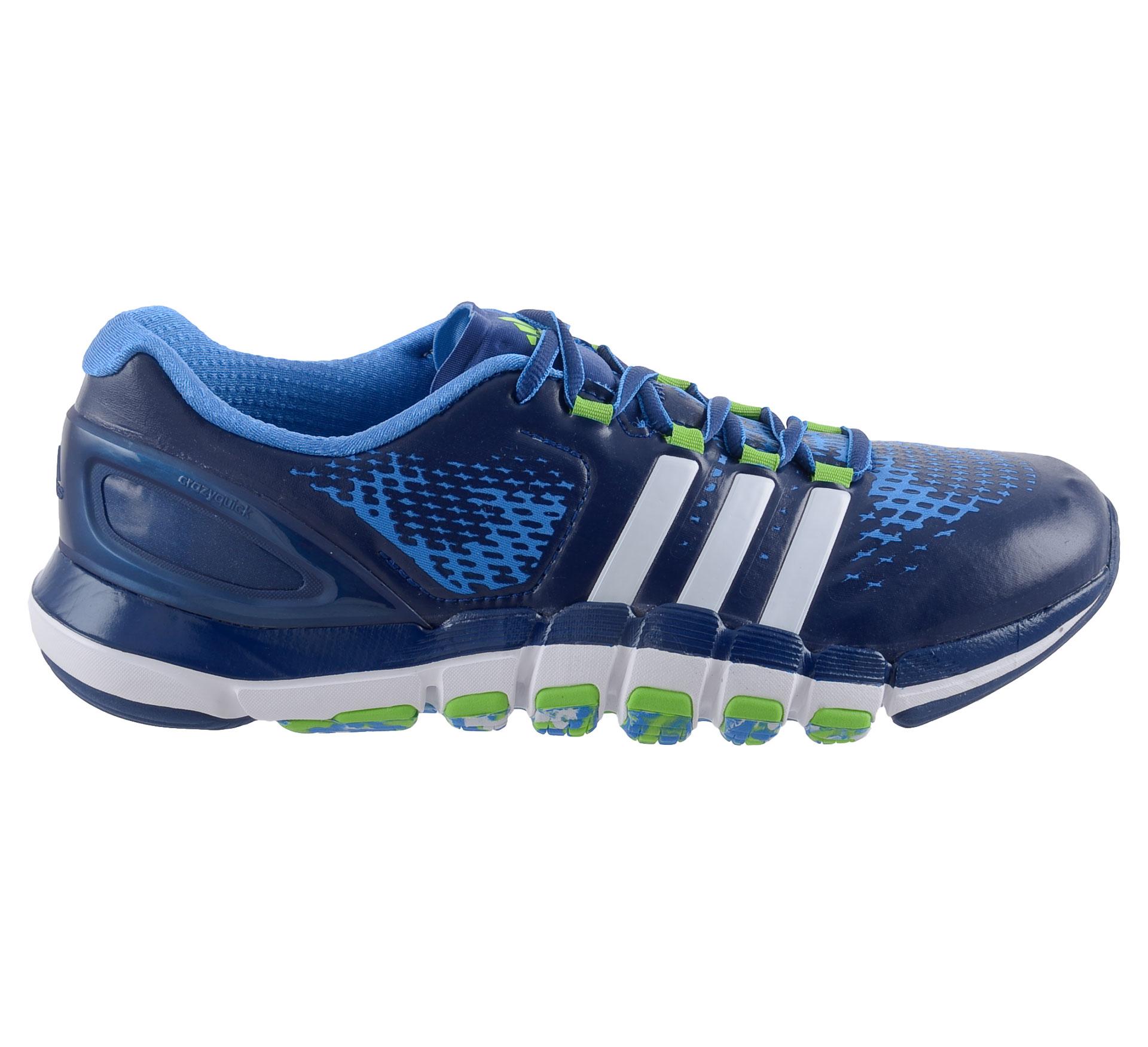 Adidas AdiPure Crazyquick Fitness Schoenen Heren blauw - groen - wit