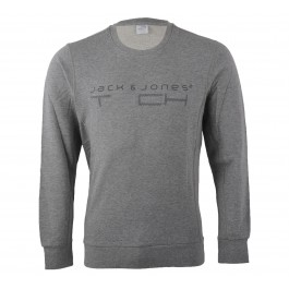 Jack & Jones T3ch 2NF Sweat Crew Neck grijs