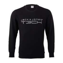 Jack & Jones  T3ch 2NF Sweat Crew Neck zwart - wit