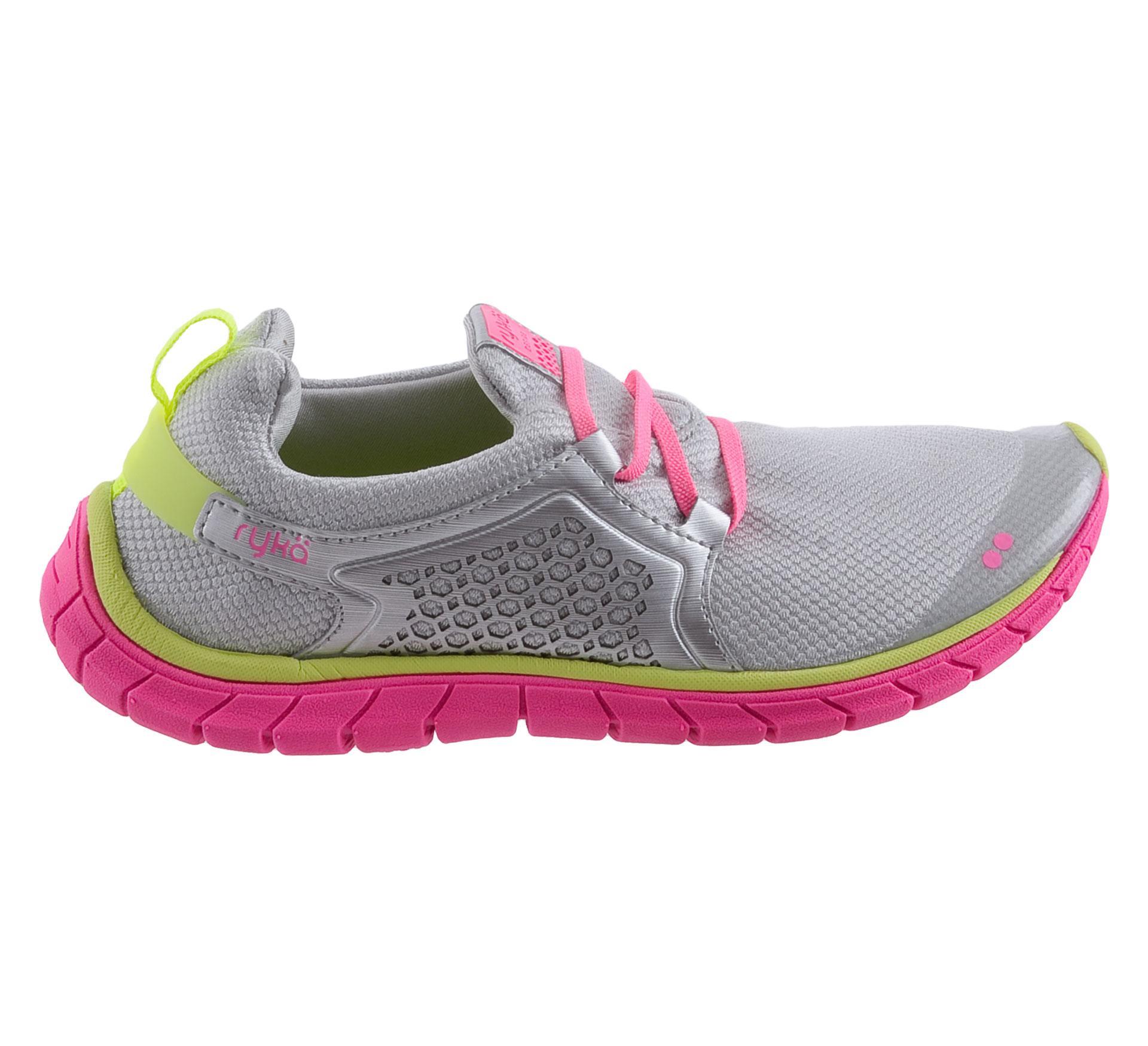 Rykä  Desire Low Fitnessschoenenen Dames zilver - roze - geel