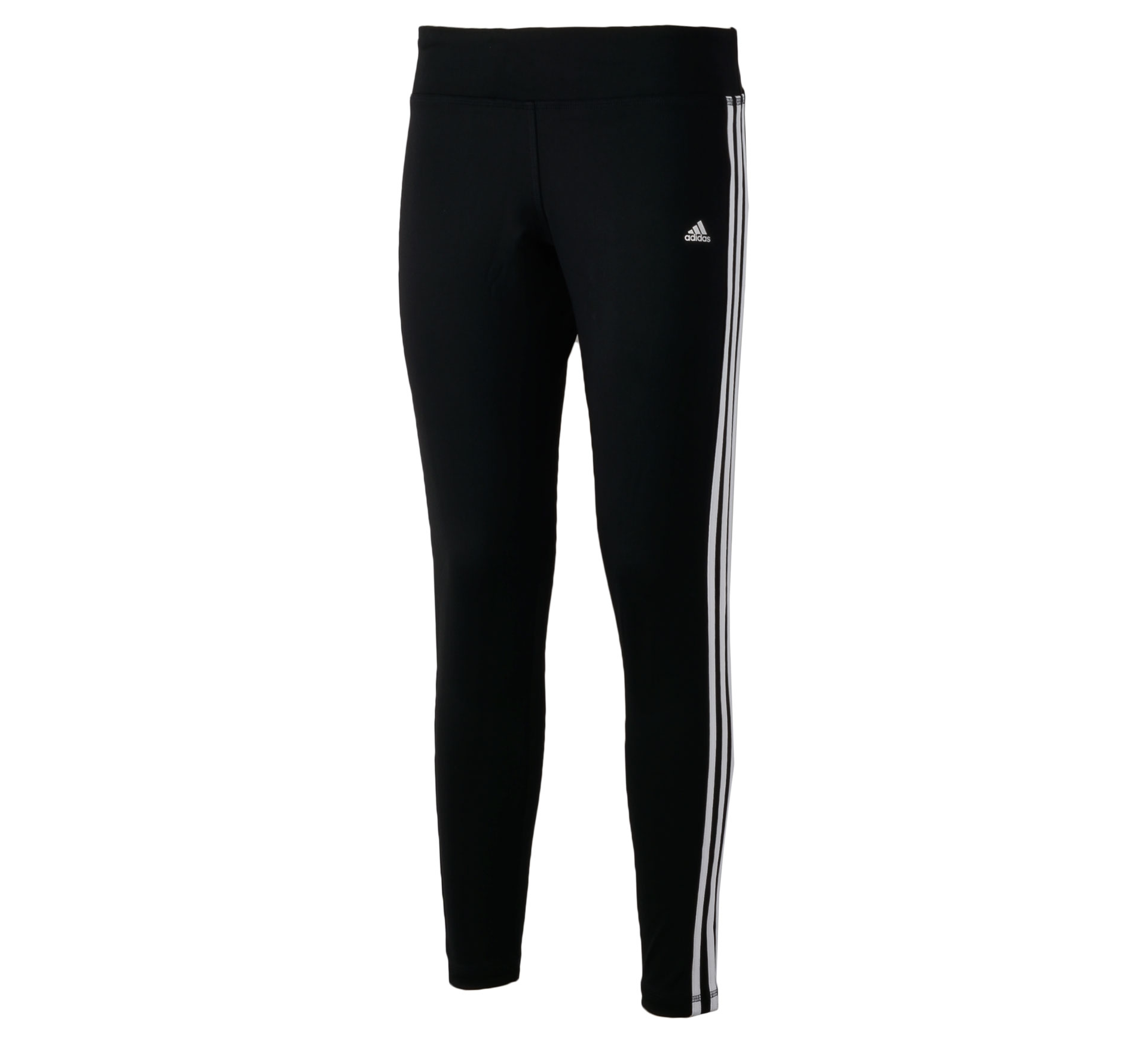 Adidas  Clima 3Stripe Essential Hardloop Tight Dames zwart - wit