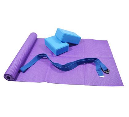 More Mile  Yoga en Pilates Oefeningen Set paars - blauw