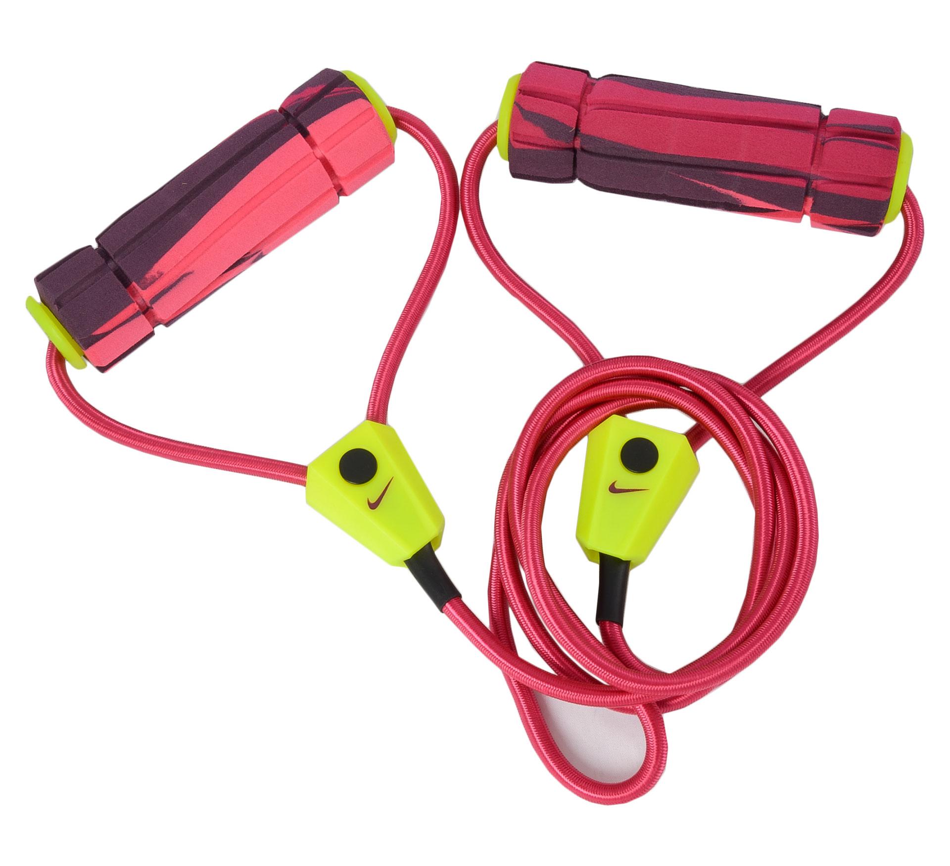 Nike Fitness Lange Weerstands Band 2.0 roze - groen