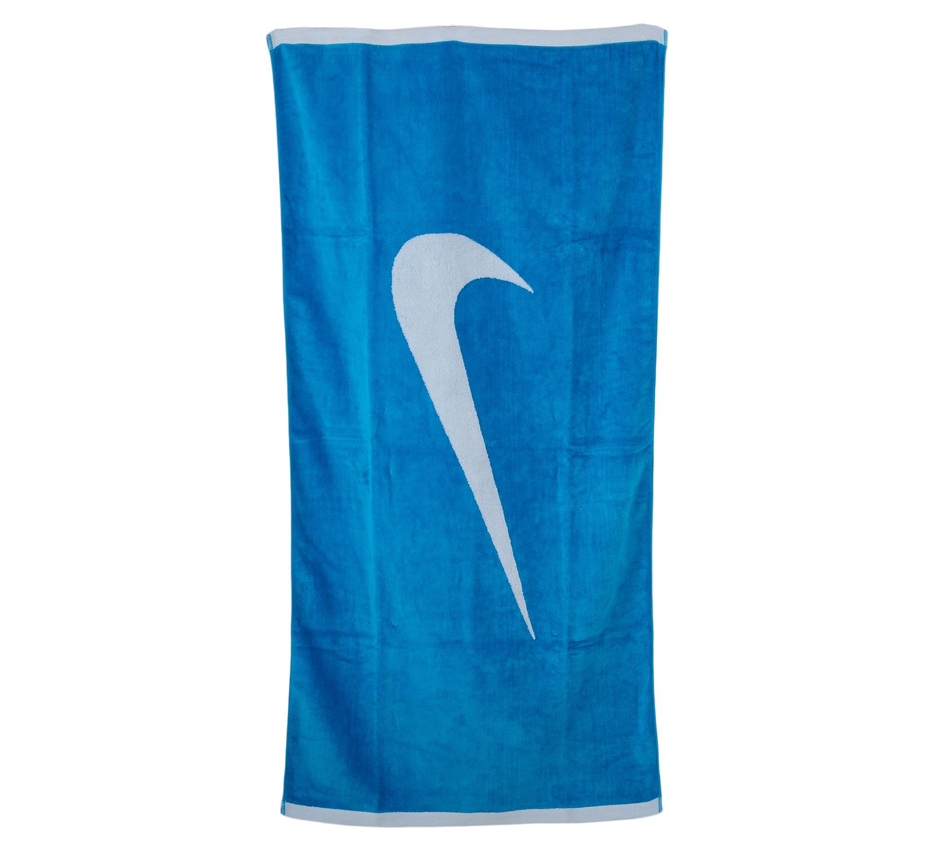 Nike Sport Handdoek Large blauw - wit
