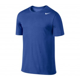 Nike Dri-Fit Cotton Short-Sleeve 2.0 blauw