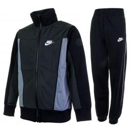Nike  Sportswear Warm-Up Track Suit Jr grijs - zwart - wit