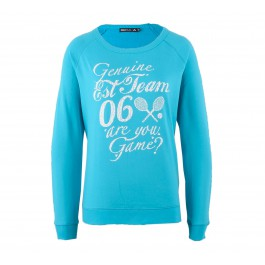 Only Play  Kia Boat Neck Sweater Dames blauw - wit