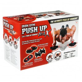 Orange Planet Iron Gym Push Up Max zwart - rood