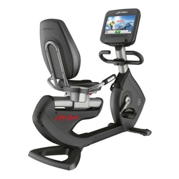 Life Fitness Platinum Discover SE Recumbent Hometrainer WIFI - Zilver