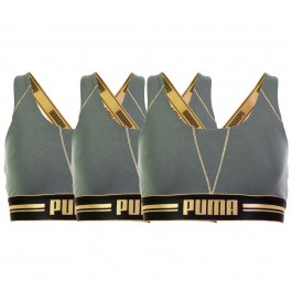 Puma  Gold Logo Cross Back (3-pack) W groen - zwart