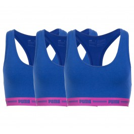 Puma Iconic Racer Back Bra (3-pack) W donker blauw - roze