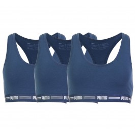 Puma Iconic Racer Back Bra (3-pack) W navy - wit