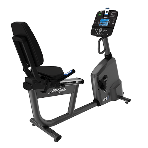 Life Fitness  RS1 Recumbent Lifecycle Exercise Hometrainer - Base met Track+ Paneel Titanium