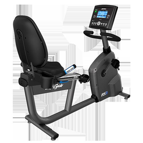 Life Fitness  RS1 Recumbent Lifecycle Exercise Hometrainer - Base met Go Paneel - Titanium