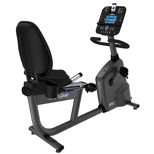 Life Fitness RS3 Recumbent Lifecycle Exercise Hometrainer - Base met Go Paneel - Titanium