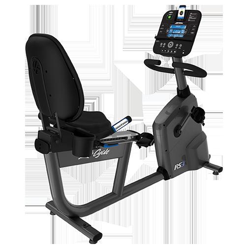 Life Fitness  RS3 Recumbent Lifecycle Exercise Hometrainer - Base met Go Paneel - Titanium
