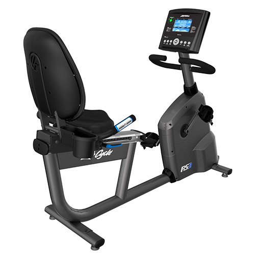 Life Fitness RS3 Recumbent Lifecycle Exercise Hometrainer - Base met Track+ Paneel - Titanium