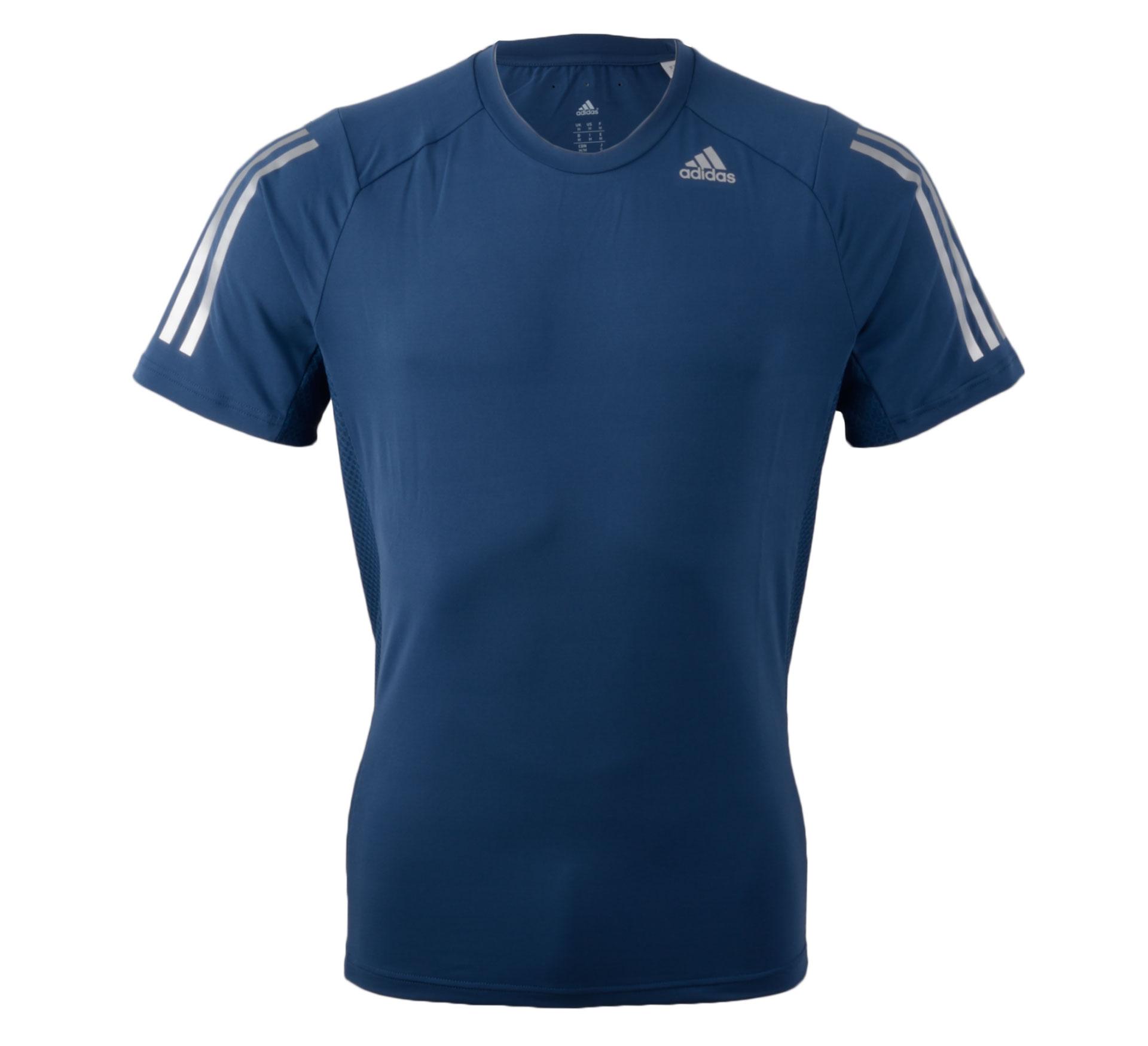 Adidas  Cool365 T-shirt Men donker blauw - zilver
