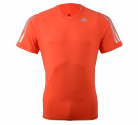 Adidas Cool365 T-shirt Men oranje/rood - zilver