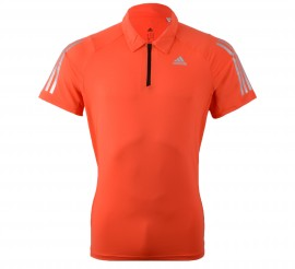 Adidas Cool365 Polo Men oranje/rood - zilver