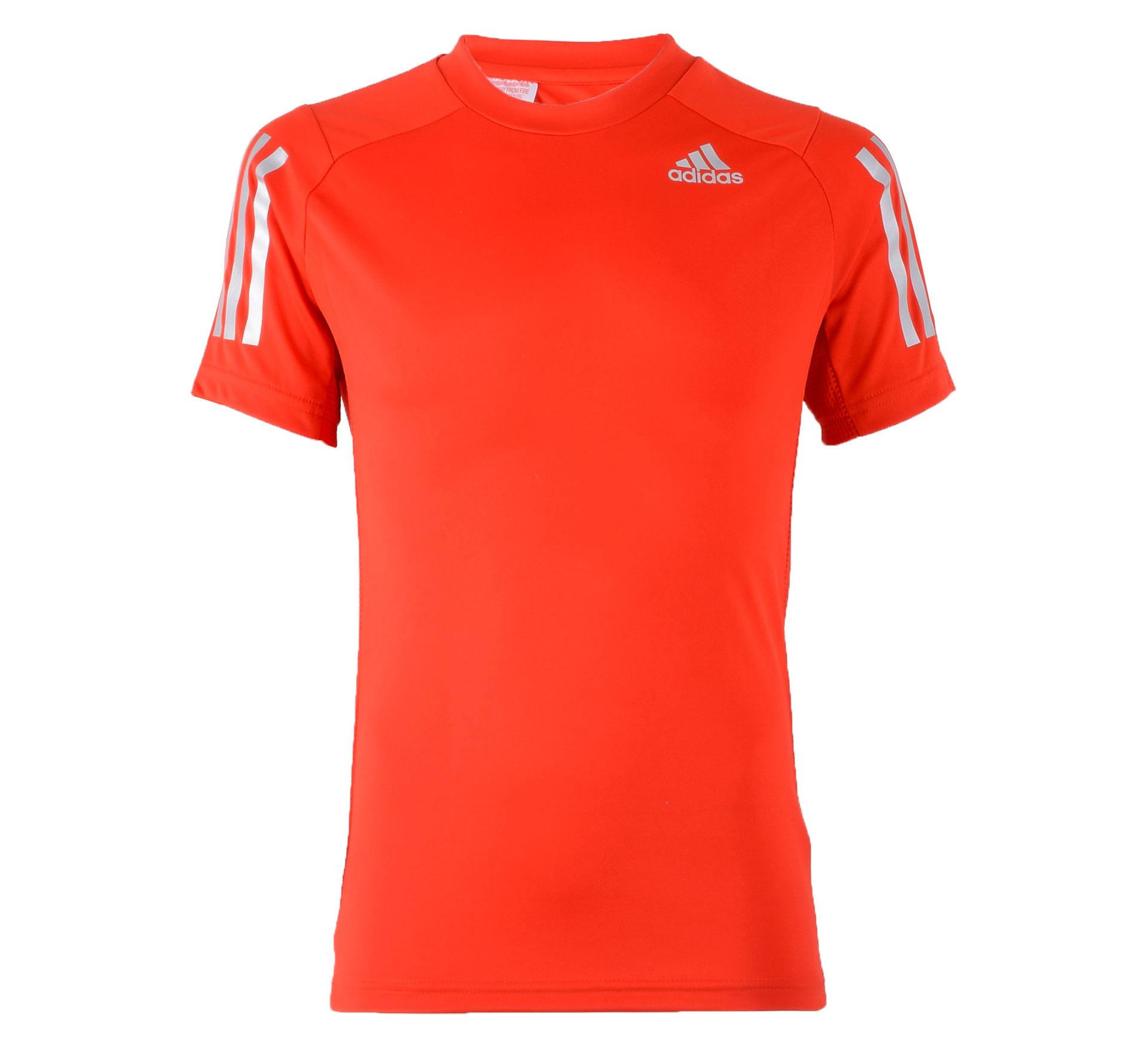Adidas YB Trainings Tee rood - zilver