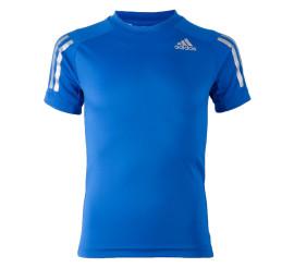 Adidas  Training T-shirt Junior blauw - zilver