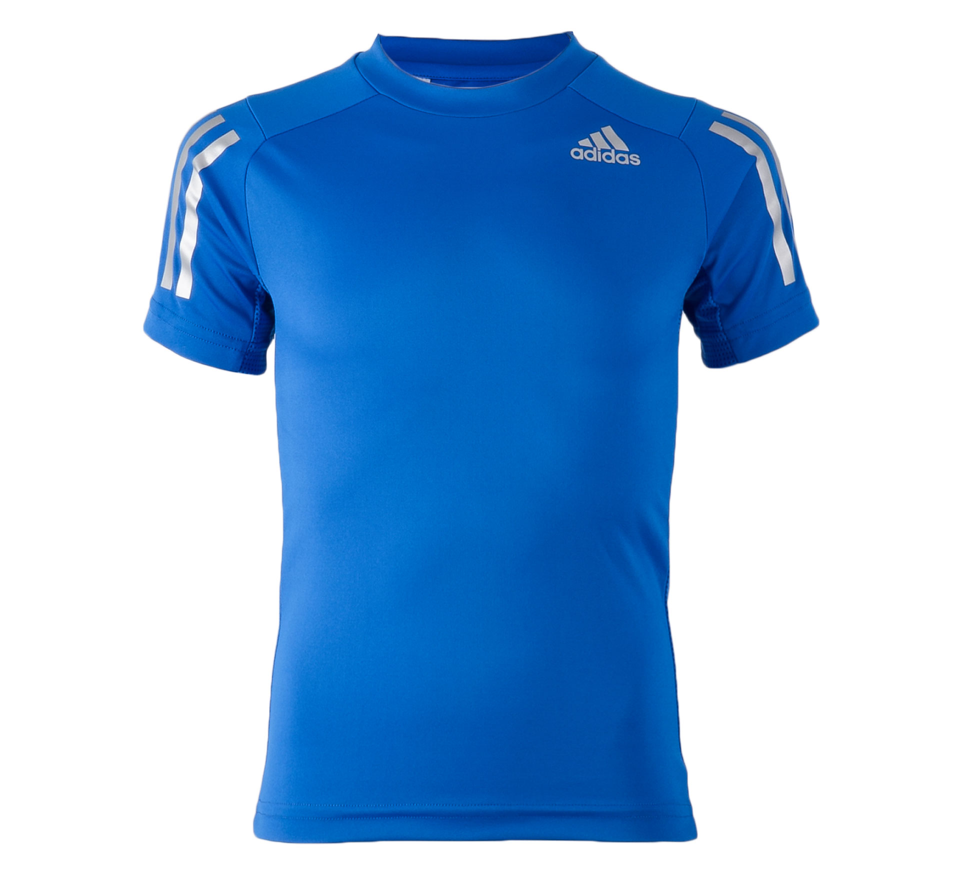 Adidas  Training T-shirt Junior blauw - zilver