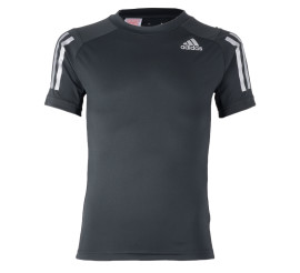 Adidas YB Trainings Tee donker grijs - zilver