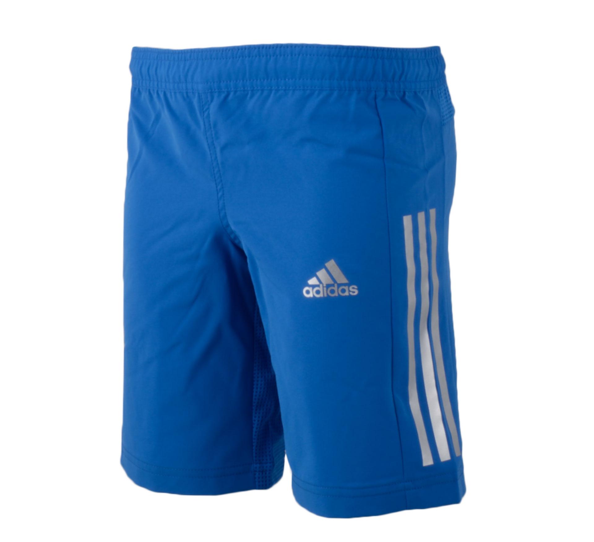 Adidas Training Short Junior blauw - zilver