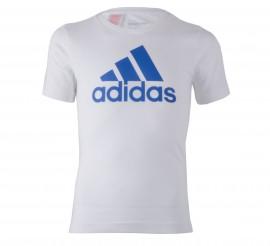 Adidas  Essentials Logo T-shirt Junior wit - blauw
