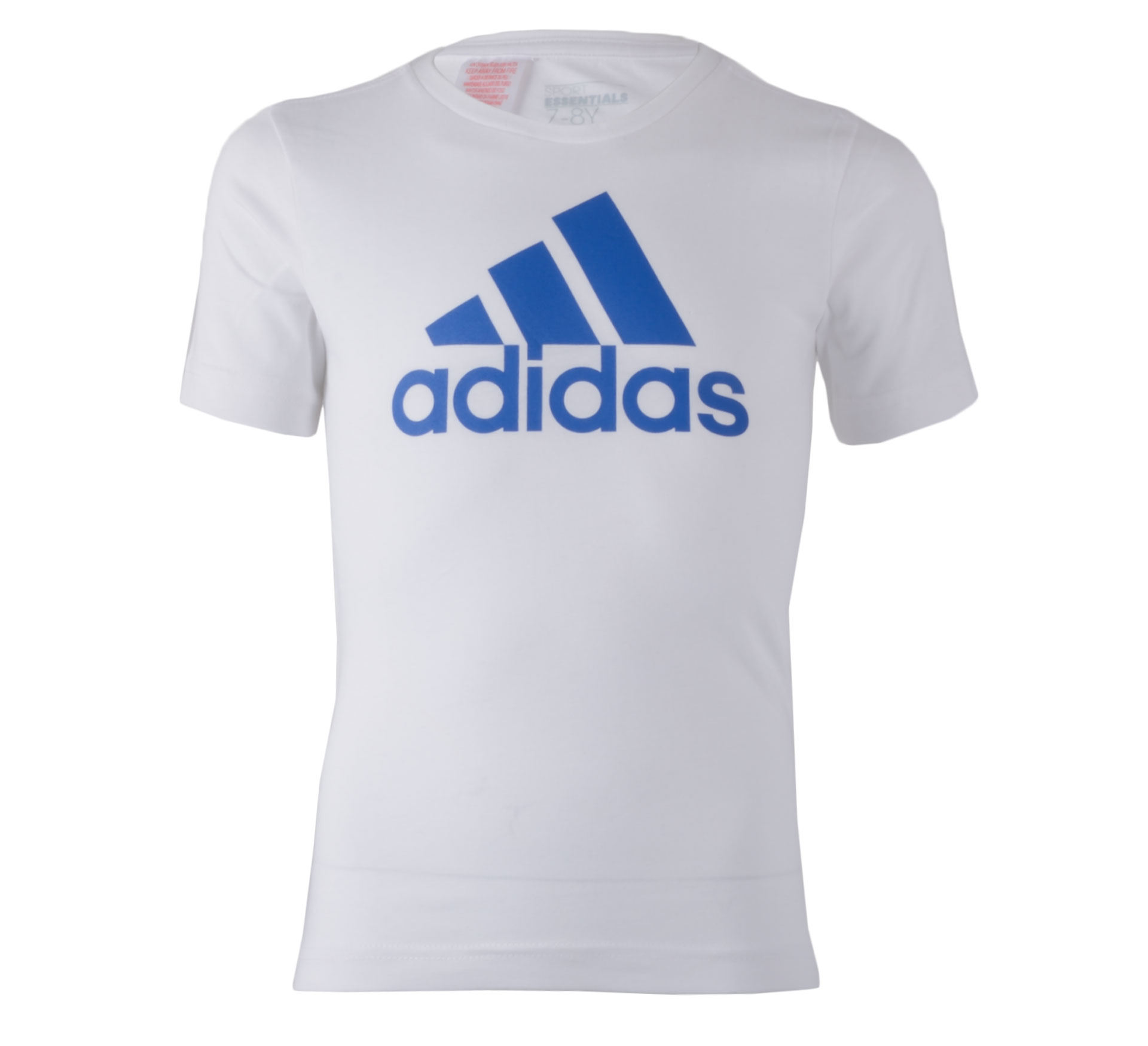 Adidas Essentials Logo T-shirt Junior wit - blauw