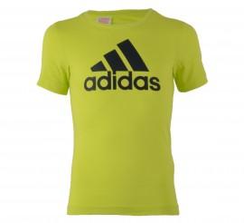 Adidas  Essentials Logo T-shirt Junior lime groen - zwart