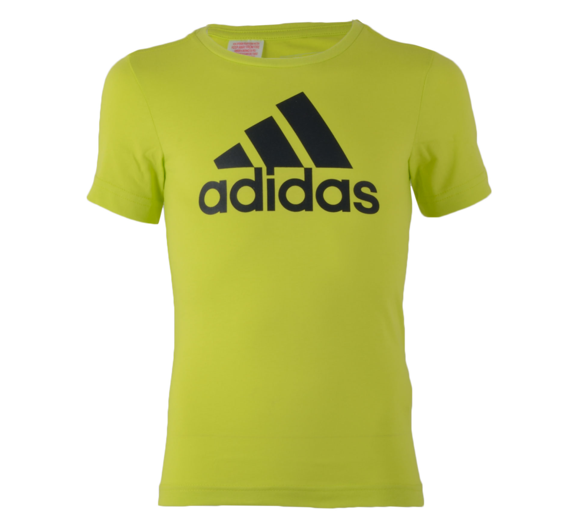 Adidas Essentials Logo T-shirt Junior lime groen - zwart