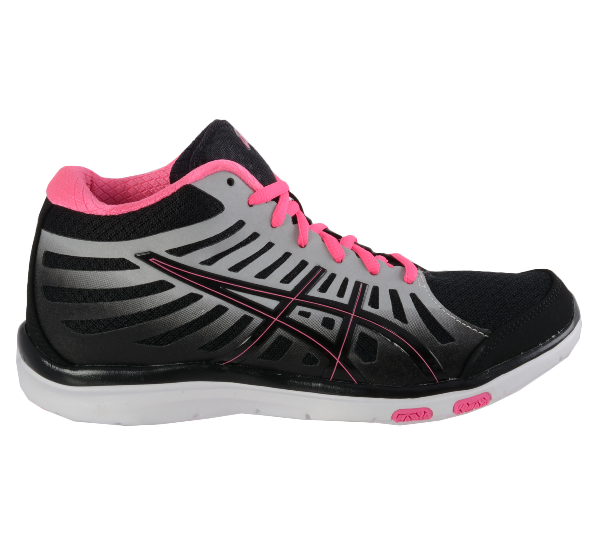 Asics Ayami-Motion MT Fitness Schoenen Dames zwart - zilver - roze