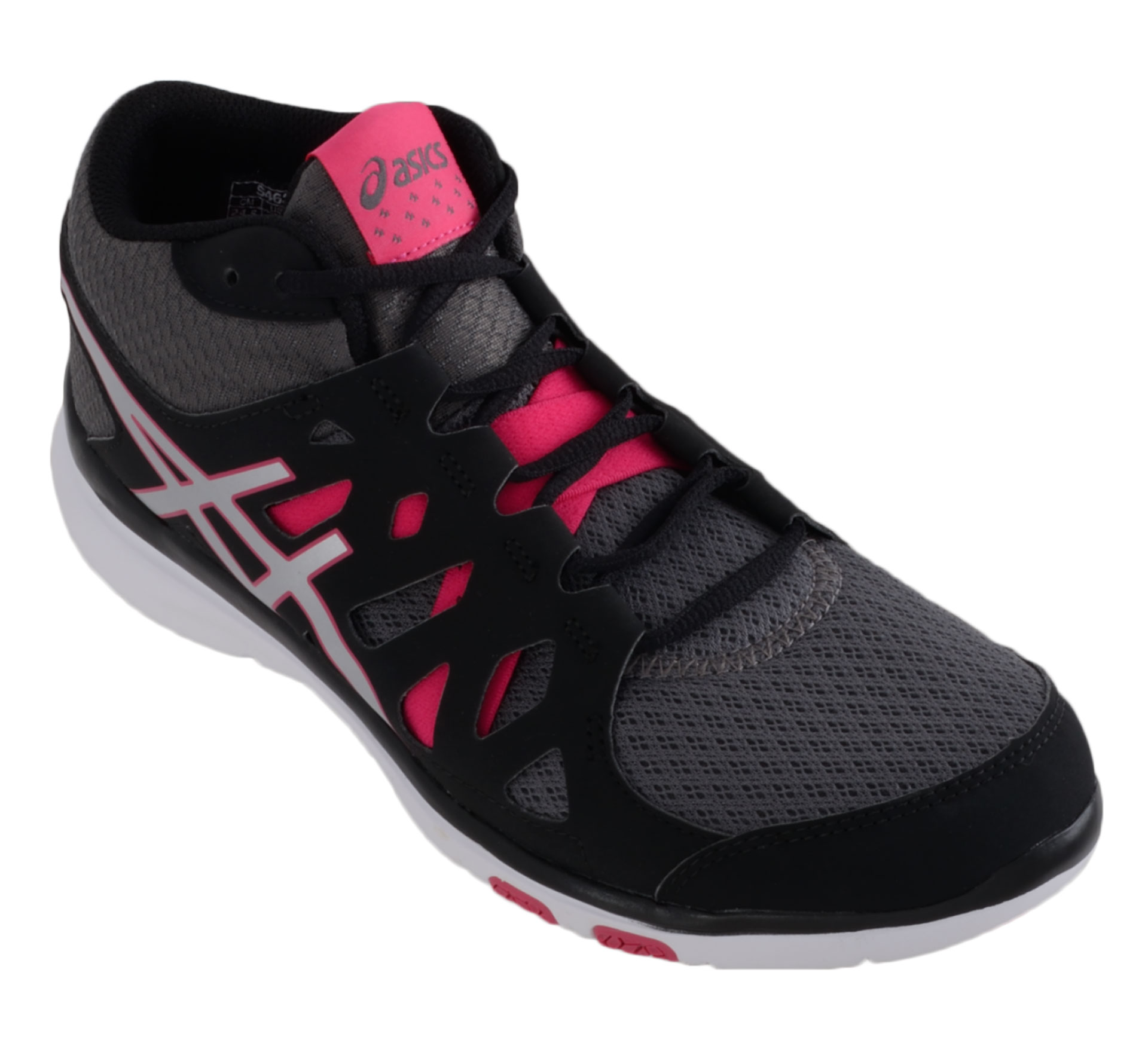 Asics  Gel-Fit Tempo MT zwart - zilver - roze